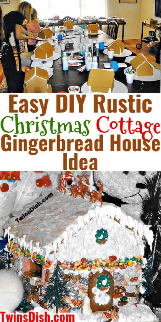 Easy DIY Rustic Christmas Gingerbread House Idea