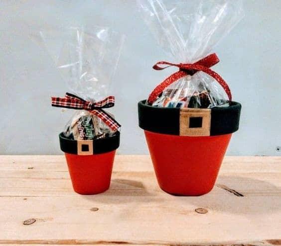 Santa Clay Pot Gift Basket