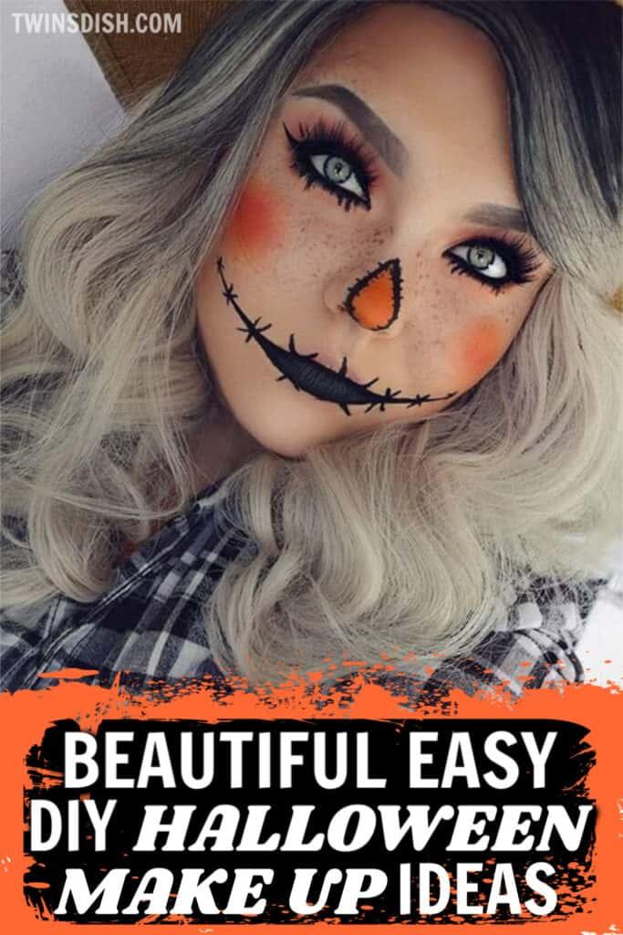 Easy Beautiful DIY Halloween make up costume ideas