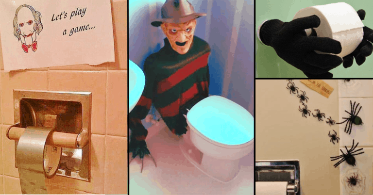Halloween Bathroom Decorations That'll Scare The Crap Out Of Them