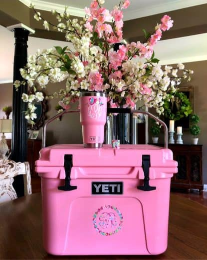 Yeti Pink Customized Tumbler and Cooler- Best Gift Ideas they'll LOVE. / budget gift ideas / Christmas gift ideas / Gift ideas they'll love and use forever / Teachers Gifts / Boyfriend Gifts/ Mother's Day / Father's Day / Teens / Kids / Parents