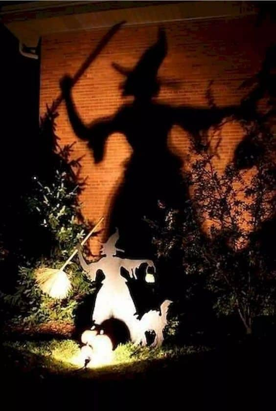 Shadow Witch Outdoor Halloween Decor