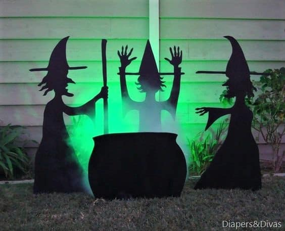 Shadow Witches Front Yard Halloweendecor