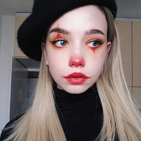 Simple Classy Clown make up for school or work
