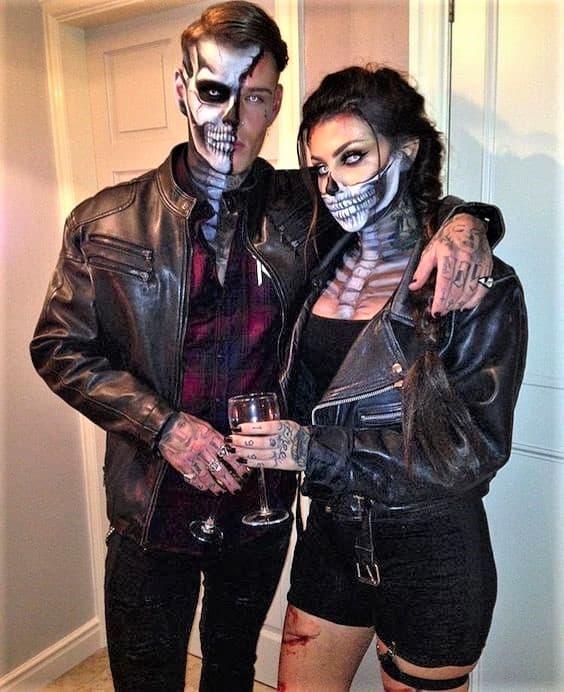 Skeleton Couple Halloween Costume