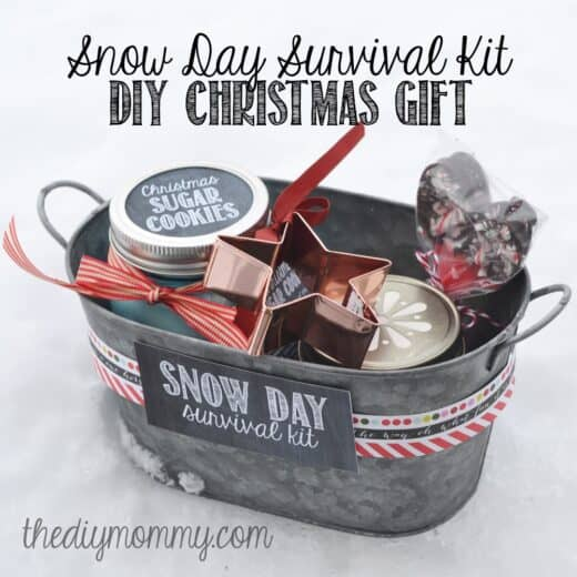 Snow Day Survival Kit Christmas Basket Idea