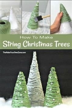 Easy DIY String Christmas Tree