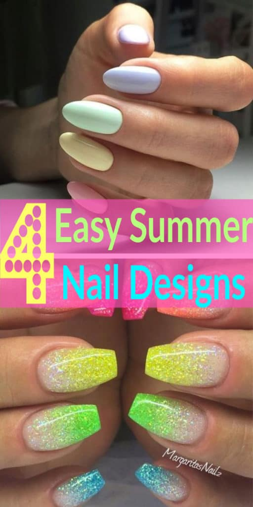Easy Summer Nail Design Ideas for Summer nails. So cute!