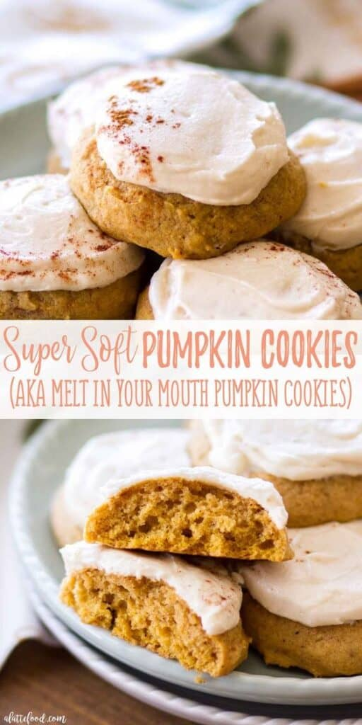 Easy Super Soft Pumpkin Cookie Recipe for Fall Thanksgiving