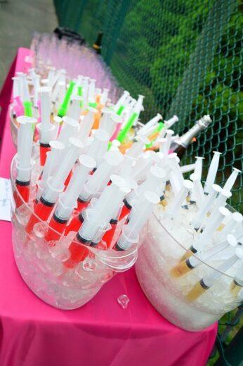 Syringe Medical or Nursing Graduation Party Food Idea