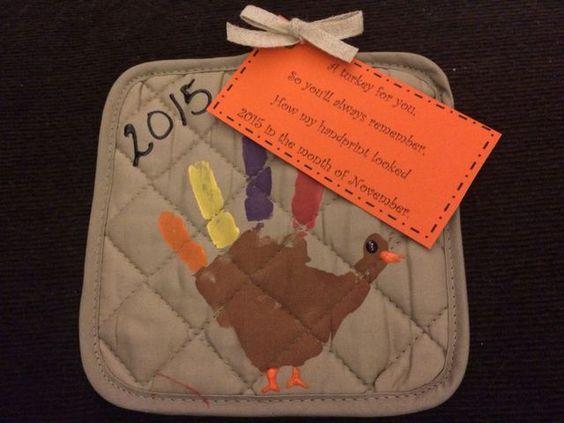 Thanksgiving Kids Handprint Kids Craft Gift to Grandparents