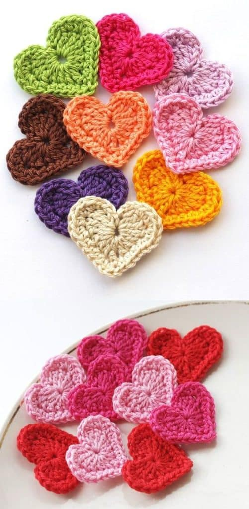 Easy DIY Valentines Day Crotchet Hearts , from the Ultimate DIY Valentines Day Guide, gifts for him, boyfriend gifts, Valentines Day decor, crafts, kids, for her.