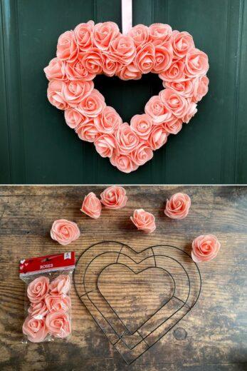 DIY Dollar Store Valentines Day Wreath