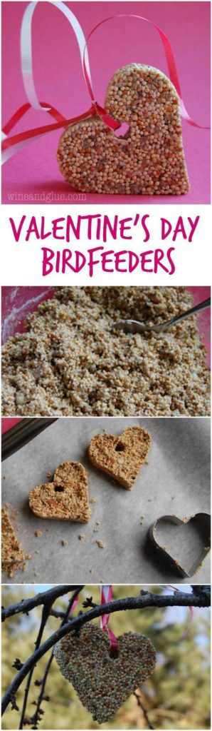 Easy DIY Valentines Day Bird Feeder, from The Ultimate DIY Valentines Day Guide, gifts for him, boyfriend gifts, Valentines Day decor, crafts, kids, for her, Bird Lovers, Nature Lovers