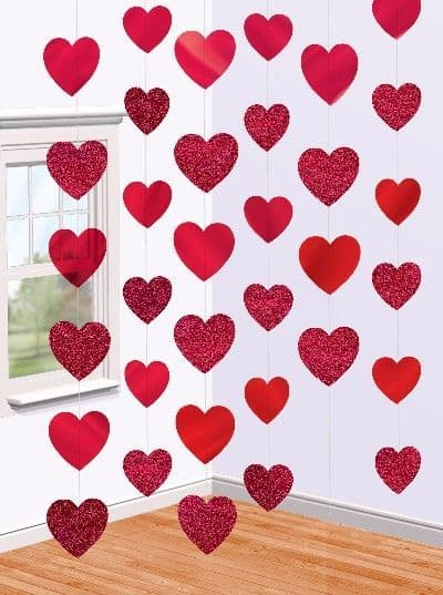 Easy DIY Valentines Day Heart String Decor for him, for her, kids, teens, parties, dinner, from the Ultimate DIY Guide to Valentines Day
