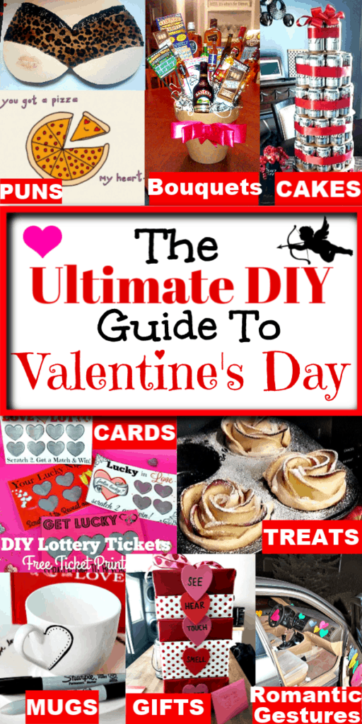 The Ultimate DIY Valentine's Day Gift Guide for Him/ DIY boyfriend gifts / Puns/ Treats/ Romantic Gestures/ DIY/ On a Budget/ Cards/ Man Bouquets/ Beer Cakes/ Games