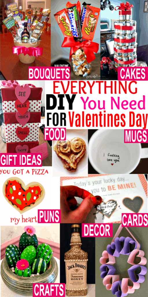The best DIY Valentines Gifts for boyfriend, Crafts for kids, Decorations, Surprises, Puns, Cards, Gifts for Him, Games and more. If you need easy cheap Valentine's day gifts for boyfriend this is the best list.