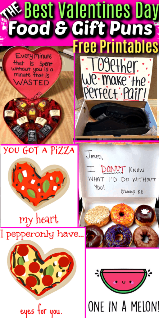 The Ultimate Guide to the Best Valentines Day Gift and Food Puns. For him, for Boyfriend, for her, for kids, for friends, cards, crafts, free printables
