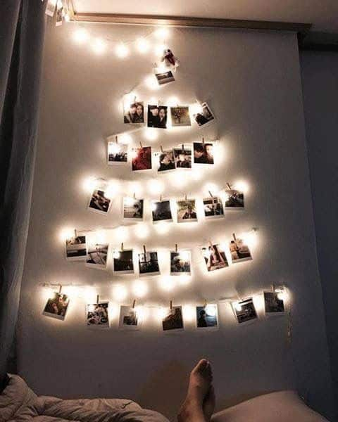 Wall Photo Christmas Tree Decoration with lights