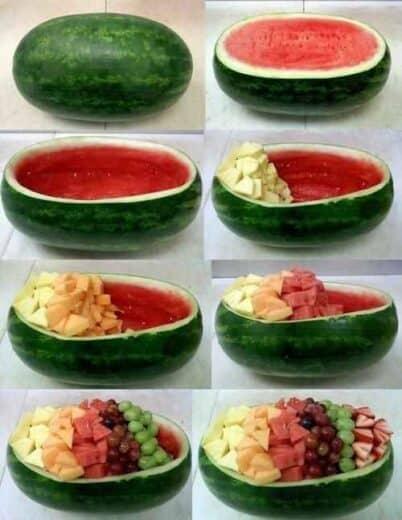 Watermelon Bowl fruit salad Graduation Party Food