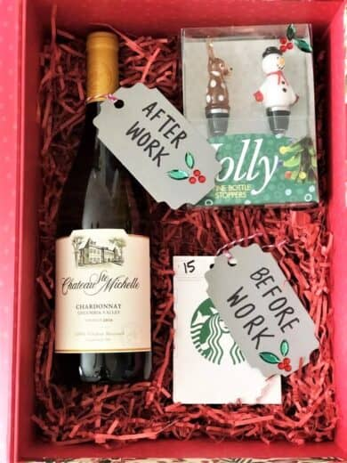 Christmas Survival Wine and Coffee Gift basket