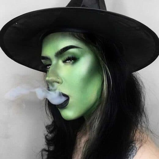 Green Witch costume make up