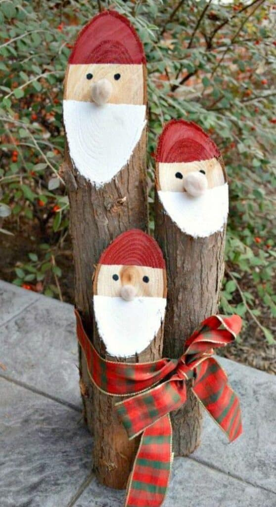 Wood Santa Claus Decoration