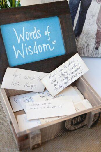 Words Of Wisdom Graduation Party Idea