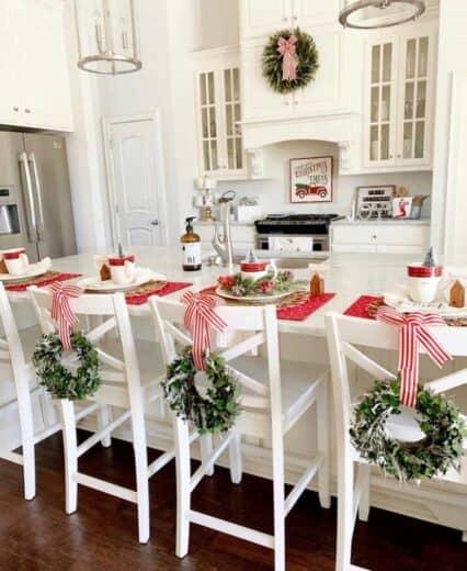 Farmhouse Glam Christmas decor for kitchen