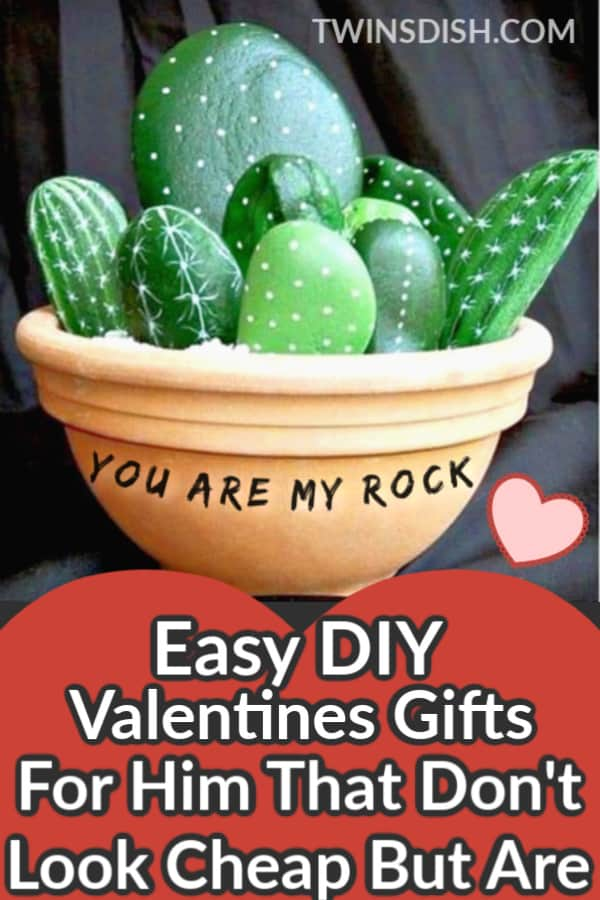 Easy DIY Valentines Day gift for boyfriend that he'll always remember. Unique and creative ideas for cheap that teens can make. Romantic and cute pun gift. #ValentinesDay