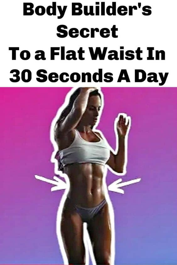 Easy secret ab exercise for a flat belly in 15 seconds