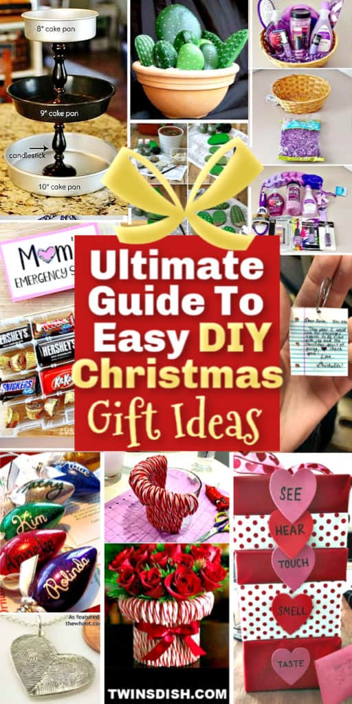 Easy DIY Gifts For Him, For Her, For Parents, and Kids. #GiftIdeas #DIYGifts