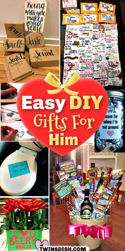 Easy DIY gift ideas for the man in your life that he will love.