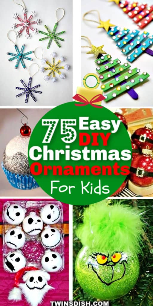 The best cheap and easy DIY Christmas ornaments for kids to make. I'm using these for crafts, gift ideas, and Christmas Tree ideas for teachers, friends, and neighbors. The kids love making them and they're beautiful.
