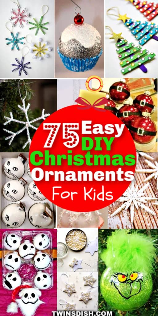 Easy DIY Christmas Ornaments For Kids To Make #Crafts