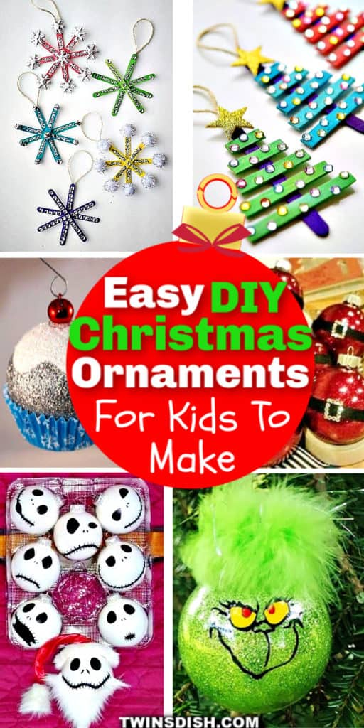 75 Easy DIY Christmas Ornaments for Kids To Make #Crafts