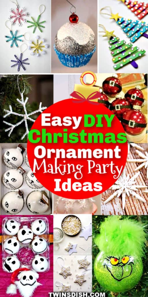Easy DIY Christmas Party Ideas for Ornaments #Crafts #ChristmasOrnaments