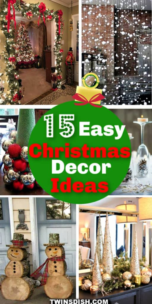 Cheap and easy DIY Christmas decoration ideas for the home, office, or apartment.