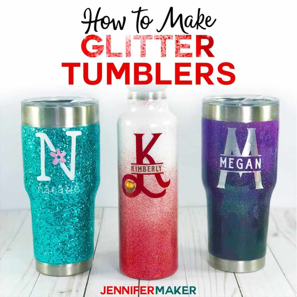 DIY Glitter Tumblers can be customized for him, make the best DIY Valentines Day Gift ideas for teachers, kids, boyfriends, girlfriends