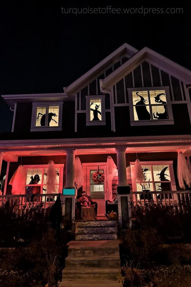 Halloween window decor silhouettes
