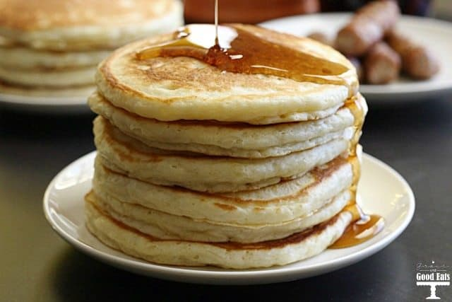 Best Ever Homemade Pancakes from scratch this classic and easy recipe is highly rated and not too sweet but not too salty. Light and fluffy addition to your breakfast