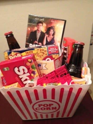 Gift Basket ideas-Movie theme