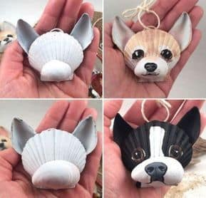 Easy DIY Dog Seashell Christmas Ornament craft, and gift idea. Great for kids, teens, friends, teachers, and ornament making party.