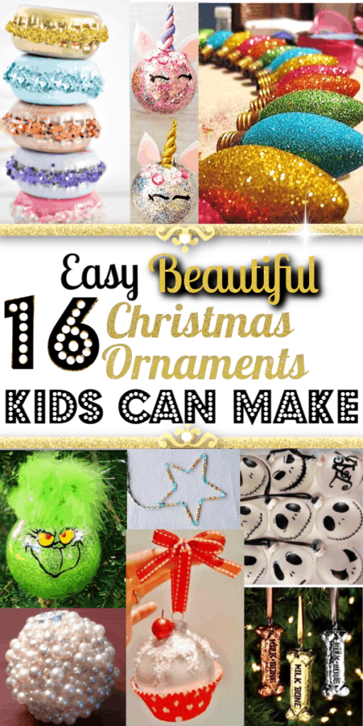 Easy DIY Ornaments kids can make for crafts or gifts. Cricut projects too.