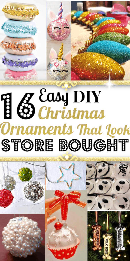 Easy DIY Ornaments That Look Store Bought for crafts and gift ideas