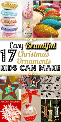Easy DIY Ornaments kids can make for crafts or gifts. Perfect for DIY Christmas gifts, Christmas tree ideas, Christmas crafts, Farmhouse decor, Christmas gifts, budget, DIY Christmas decorations, apartment decorating, gifts for friends, Gifts for teachers
