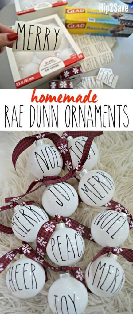 Easy DIY Farm House, Rae Dunn copy of Pottery Barn Ornaments using a cricut machine. This Christmas Tree Ornament is perfect for, kids, Crafts, Farm House Christmas ornaments and decor for an apartment, a friends gift, and teachers gift..