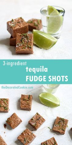 Tequila Fudge Shot- Quick, Easy, 3 ingredient fudge that will get you drunk. Strong but delicious. Perfect for Christmas parties, Christmas treats, DIY Christmas gifts, Christmas appetizers, New Years Eve appetizers, New years Eve treats, and even Birthdays